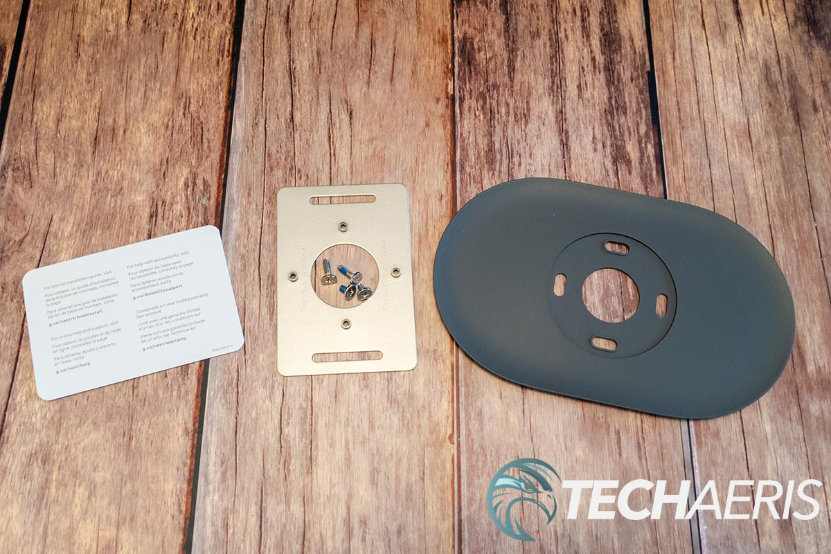 What's included with the Nest Thermostat Trim Kit