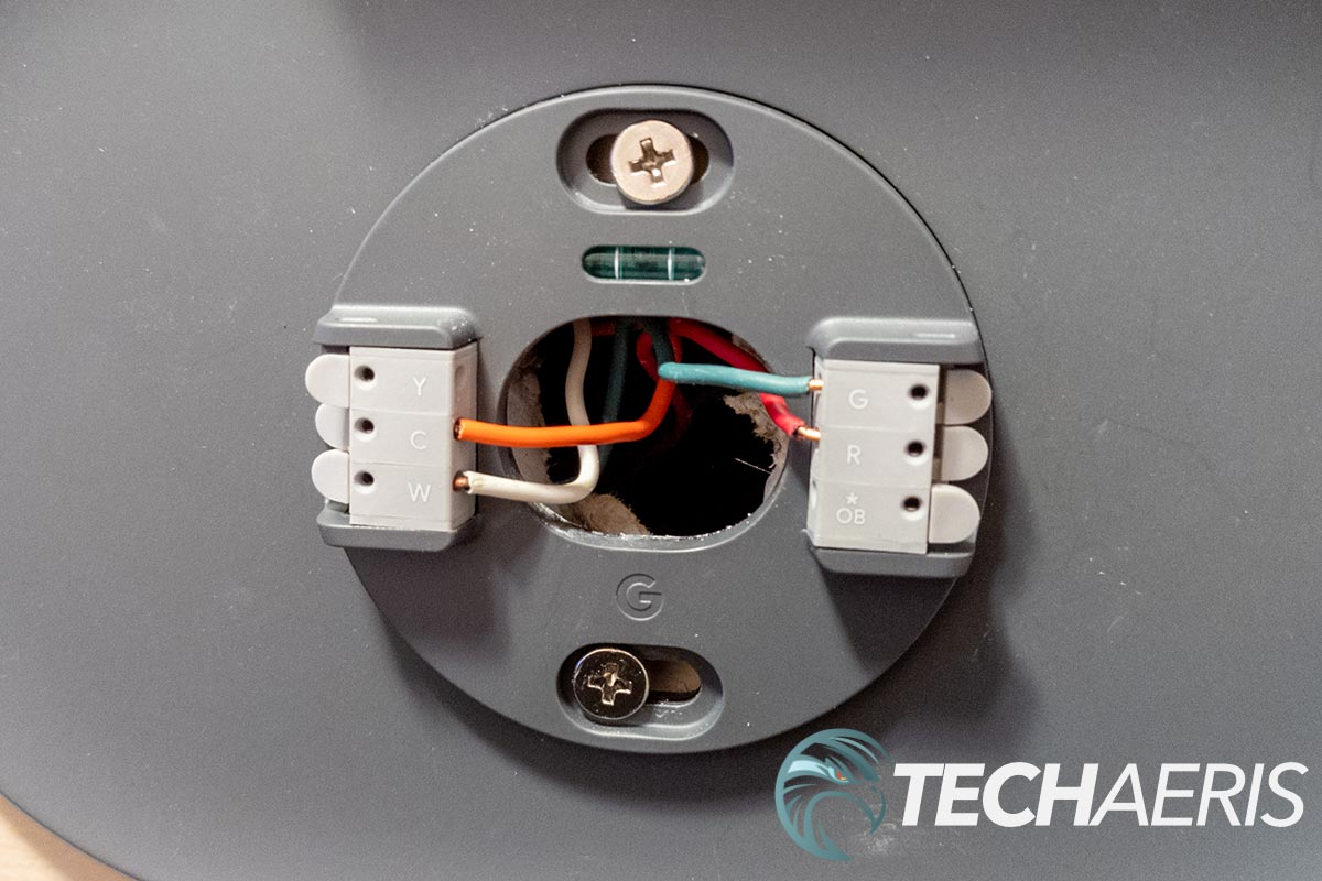 Wiring setup with Google Nest Thermostat