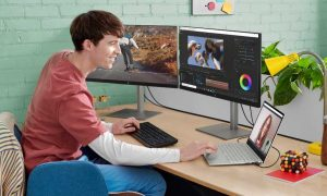 HP ENVY creator laptops with dual monitor setup