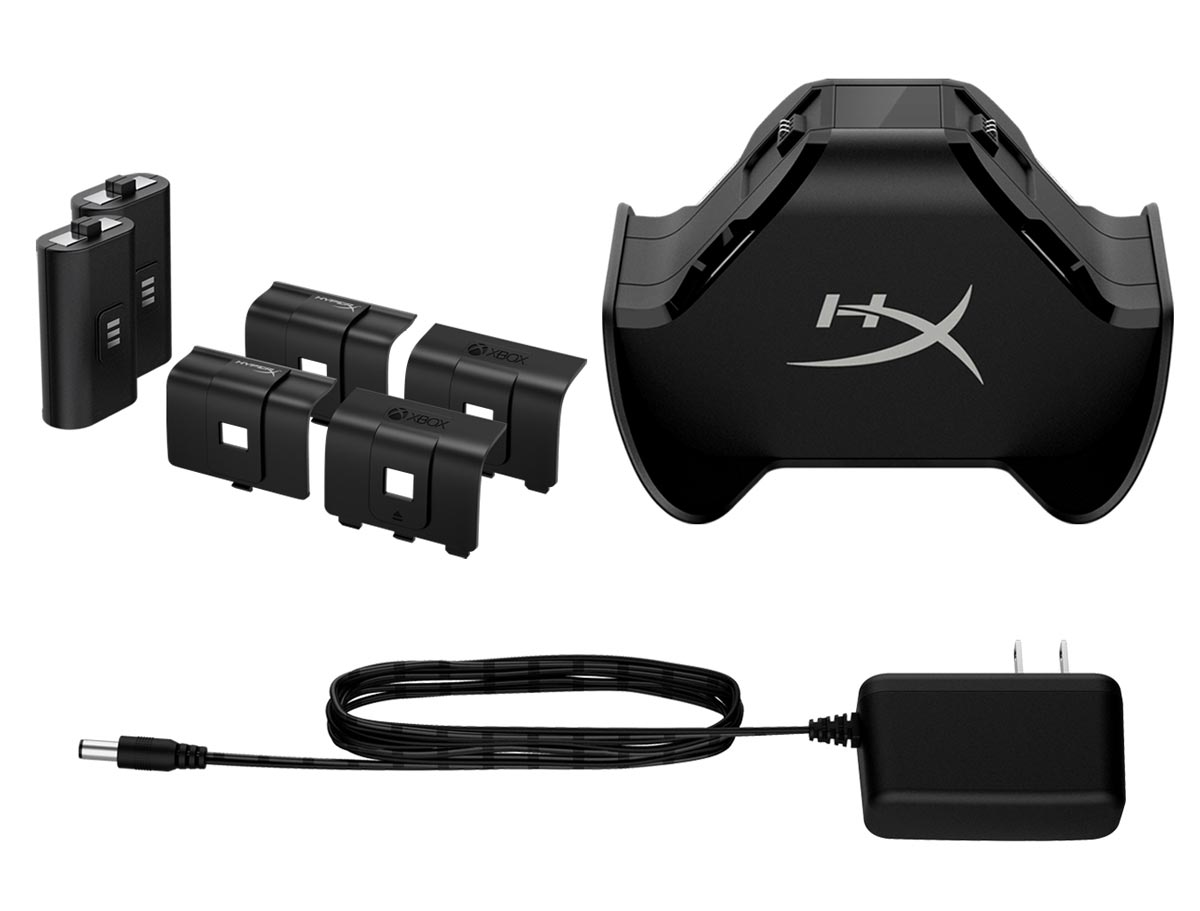 What's included with the HyperX ChargePlay Duo Charging Station for Xbox