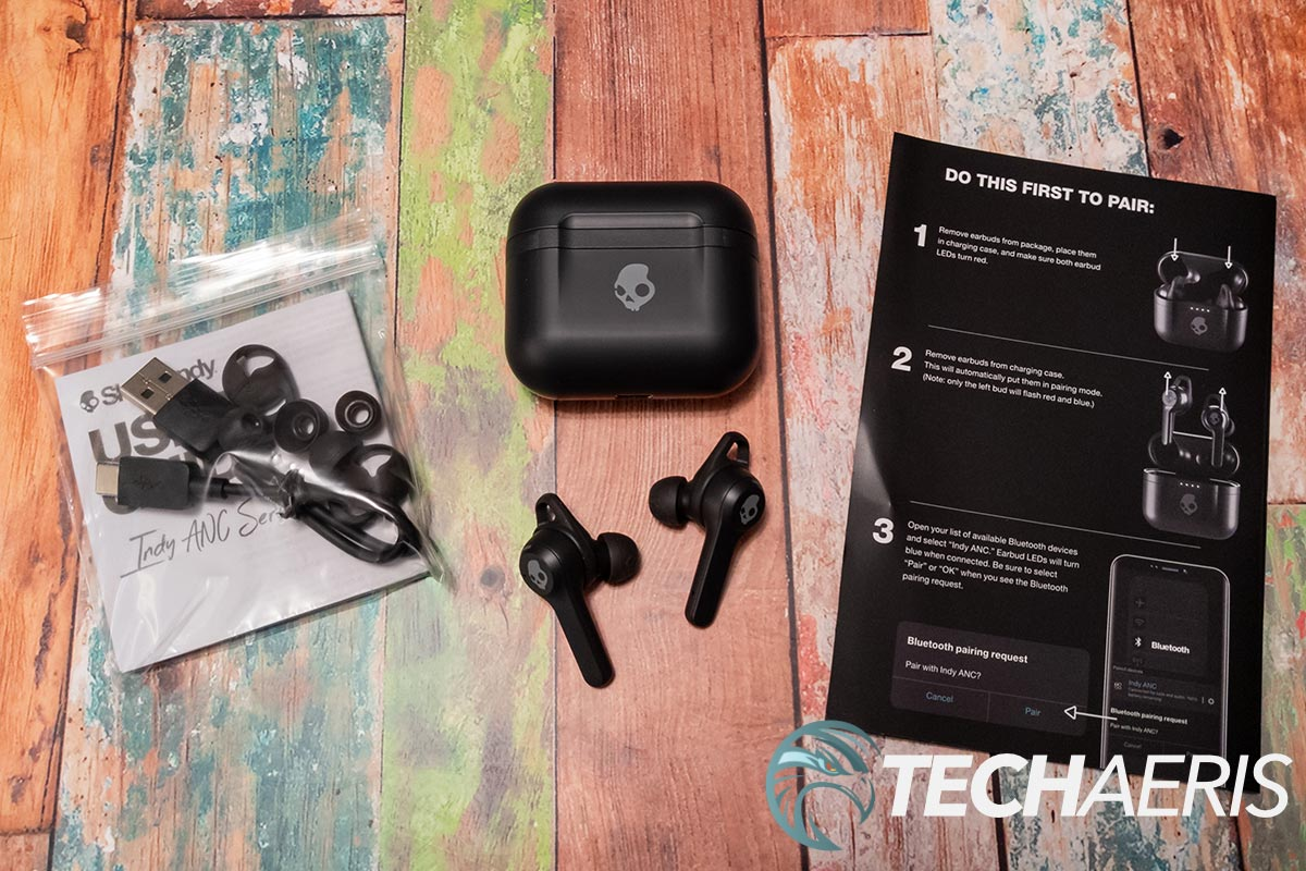What's included with the Skullcandy Indy ANC true wireless earbuds