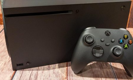 Xbox Series X console with Xbox Wireless Controller