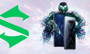 Black Shark 4 gaming phone with Black Shark logo