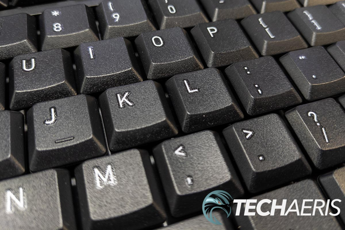 The keys on the CHERRY GENTIX Desktop wireless keyboard or fairly low profile