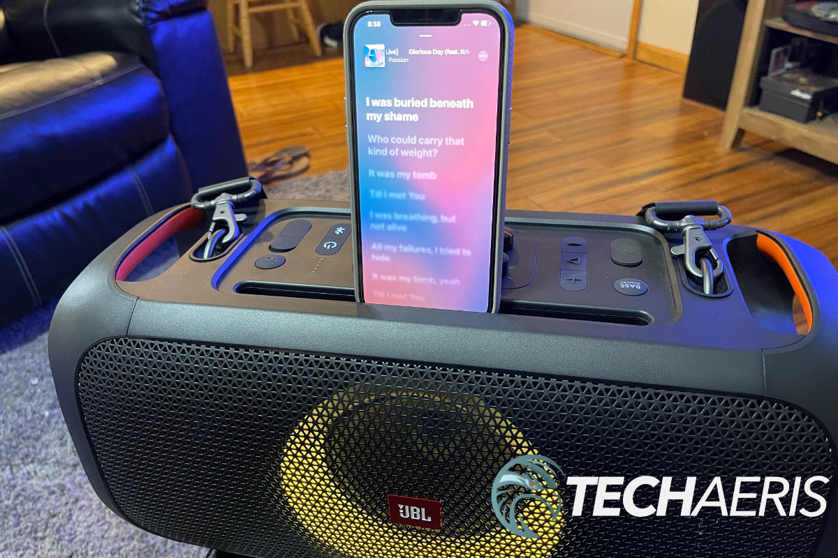 Set your device on top for karaoke night!
