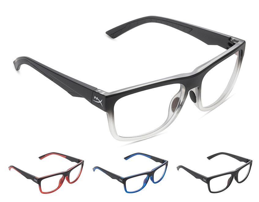 The HyperX Spectre Mission gaming glasses are available in four different colourways