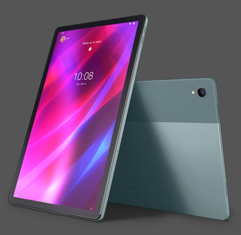 Lenovo Tab P11 Android tablet front and back view