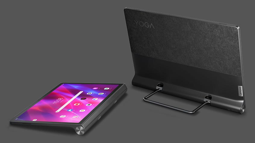 Lenovo Yoga Tab 11 Android tablet back view and laying down