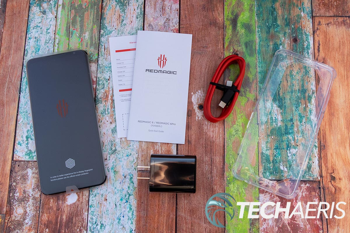 What's included with the RedMagic 6 gaming smartphone