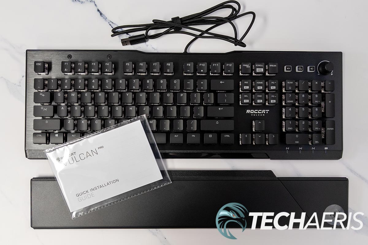 What's included with the ROCCAT Vulcan Pro optical gaming keyboard