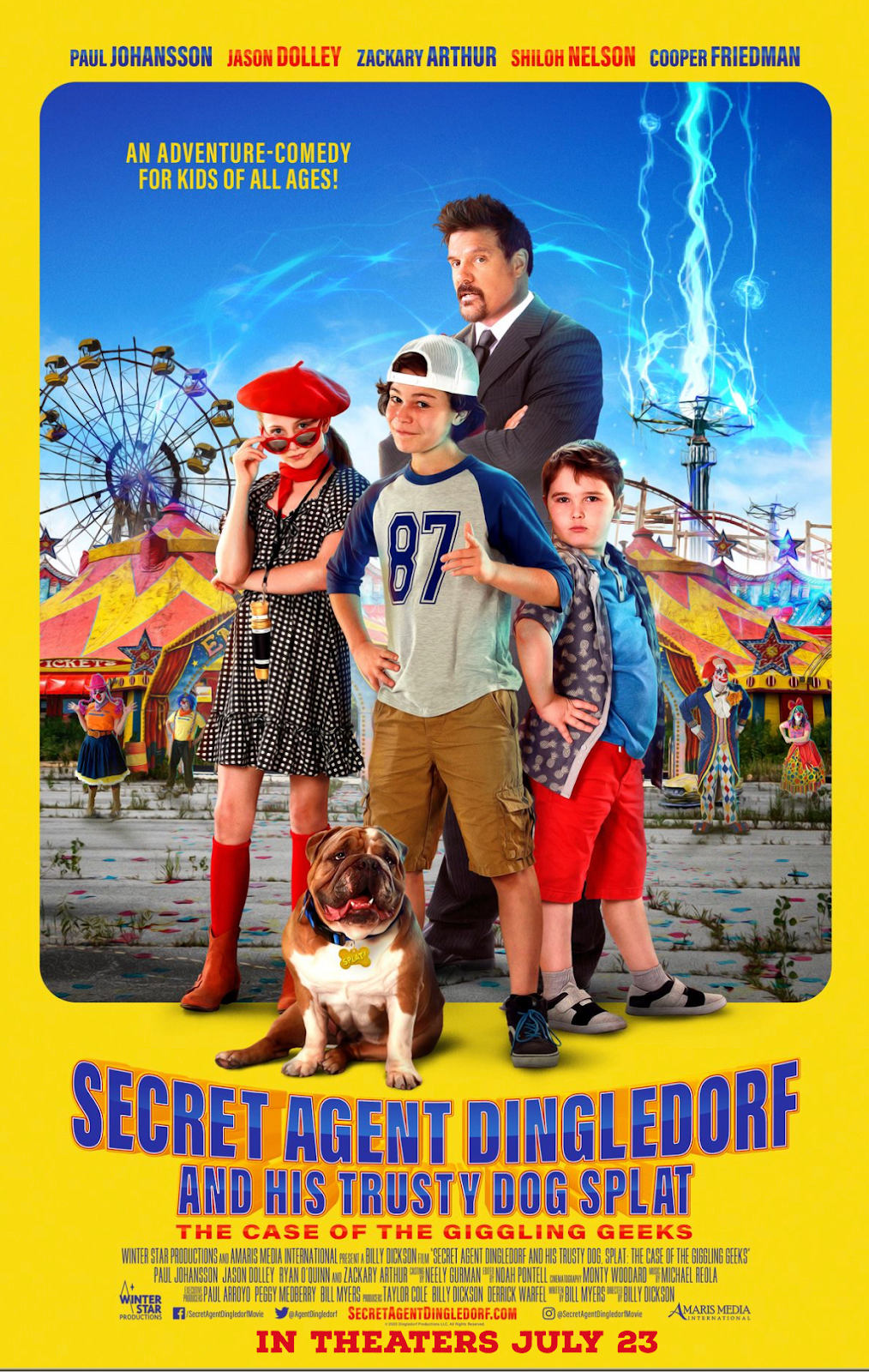 Secret Agent Dingledorf And His Trusty Dog Splat opens in theaters July 23rd