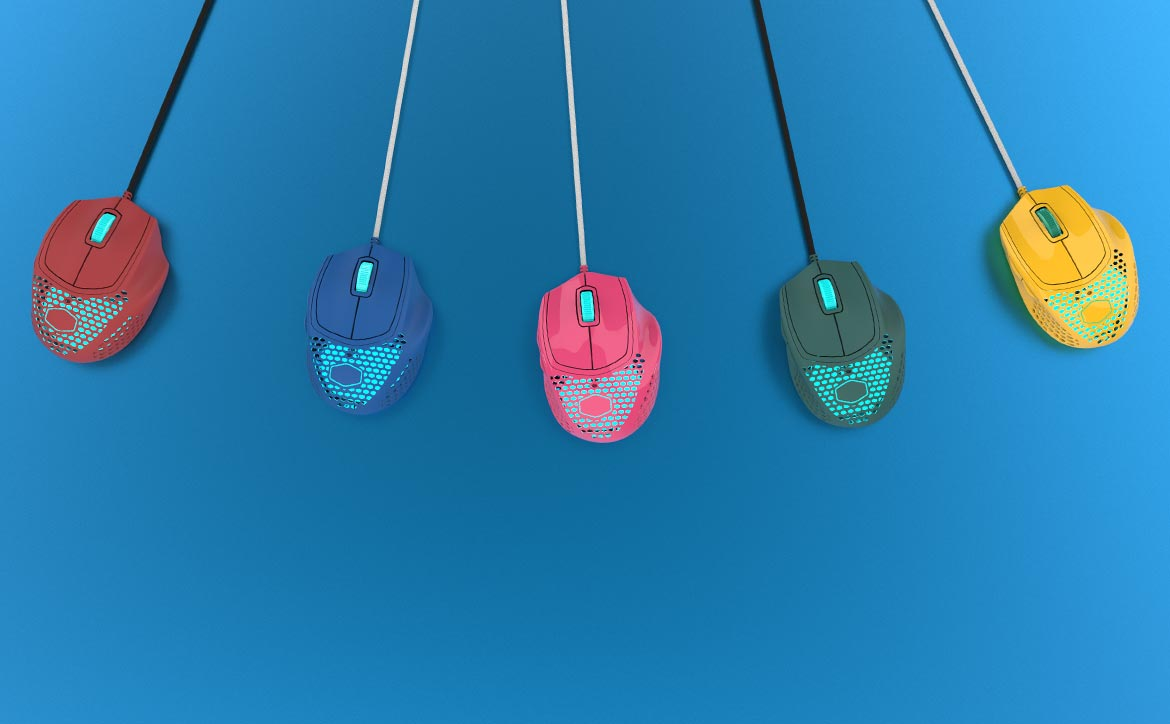 CoolerMaster/NachoCustomz limited edition MM720 gaming mouse in five colours