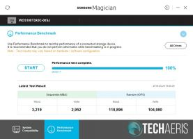 Samsung Magician WD Black SN750 results