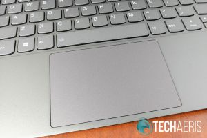 The large touchpad on the Lenovo IdeaPad 730S ultrabook