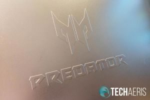 The Acer Predator logo and icon is debossed on the right panel