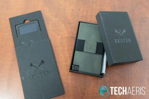 The Ekster Senate Cardholder and optional Tracker Card come nicely packaged