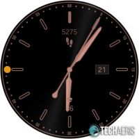 One of many watch faces available for the Samsung Galaxy Watch Active