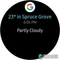 Weather notification screen on the Samsung Galaxy Watch Active