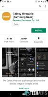 Install Galaxy Wearable app from Google Play