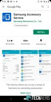 Install Samsung Accessory Service from Google Play