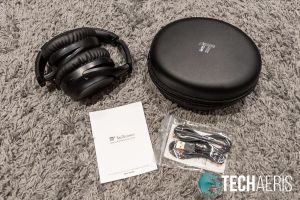 What's included with the TaoTronics SoundSurge 60 Active Noise Cancelling Wireless Stereo Headphones