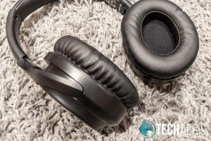 The ear pads on the TaoTronics SoundSurge 60 Active Noise Cancelling Wireless Stereo Headphones