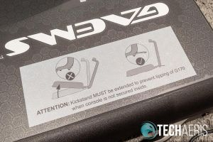GAEMS Sentinel Pro kickstand warning sticker