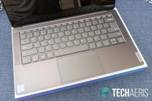 The keyboard and touchpad on the Lenovo IdeaPad S940