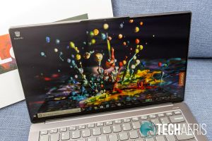The 4K display is bright and crisp on the Lenovo IdeaPad S940