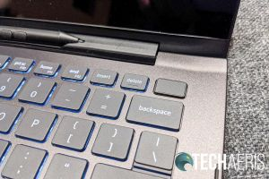 The power button doubles as a fingerprint scanner on the 2019 Dell Inspiron 13 7000 2-in-1