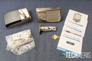 What's included with the Schlage Encode Smart Wi-Fi Deadbolt