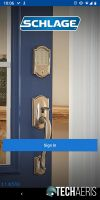 The Schlage Home app requires you to sign in