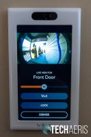 The Ring Video Doorbell footage as seen through the Brilliant Home Control