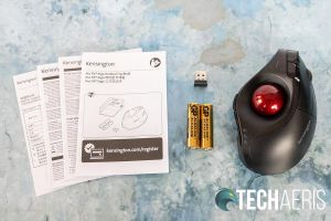 What's included with the Kensington Pro Fit Ergo Vertical Trackball