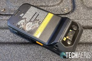 The back of the Panasonic Toughbook N1 smartphone