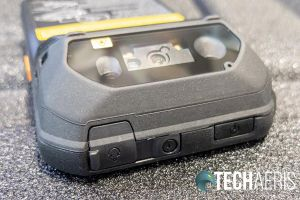 The top edge of the Panasonic Toughbook N1 smartphone