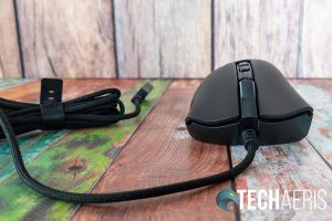 The Speedflex cable on the Razer DeathAdder V2 ergonomic wired gaming mouse