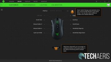 The main customization screen for the Razer DeathAdder V2 in the Razer Synapse 3 application