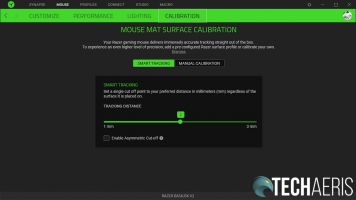 The Razer Synapse 3 Basilisk V2 calibration screen
