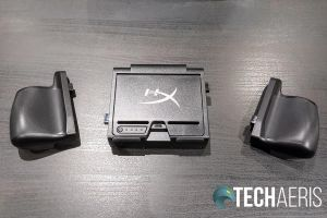 Back view of the HyperX ChargePlay Clutch Charging Case for Nintendo Switch
