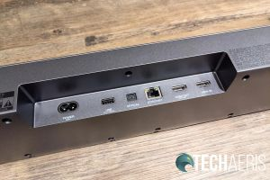 The ports on the back of the JBL Bar 9.1 Dolby Atmos soundbar