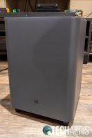 Front view of the JBL Bar 9.1 Dolby Atmos subwoofer