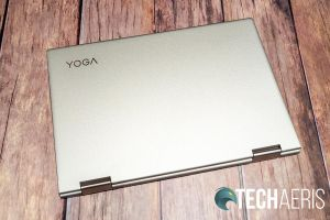 "Top view of the Lenovo YOGA C740 14"" 2-in-1 laptop"