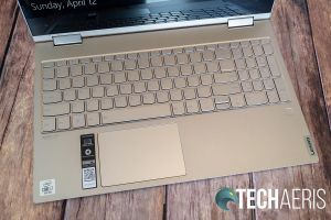 Keyboard on the 15-inch Lenovo YOGA C740 2-in-1 laptop