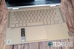 Keyboard on the 14-inch Lenovo YOGA C740 2-in-1 laptop