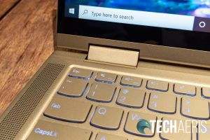 The hinge on the Lenovo YOGA C740 2-in-1 laptop
