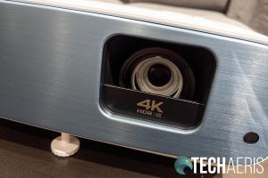 The 4K UHD lens opening on the BenQ TK850 Sports Projector