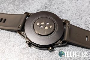 The sensors on the bottom of the Huawei Watch GT 2