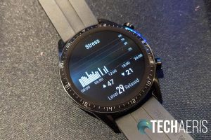 The stress monitor screen on the Huawei Watch GT 2