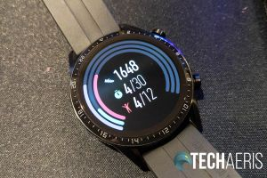 The daily activity screen on the Huawei Watch GT 2